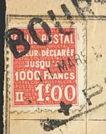 Bourgoin à Sables D'Olonne Bulletin D'expédition YT Colis Postaux 168 (°) 1f00 Rouge, Mars 1940 France – 186 - Briefe U. Dokumente