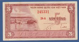 VIETNAM SOUTH - P.13a – 5 DONG ND (1955) - AU - Prefix 24-A - Vietnam