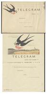Tschechoslowakei Schmuckblatt-Telegramm Komplett Lx1 I-39 Schwalbe Gebraucht - Cartas