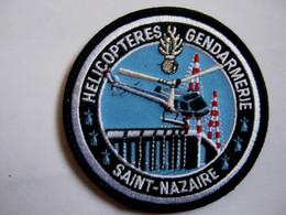 ECUSSON GENDARMERIE NATIONALE HELICOPTERE LE SAG SAINT NAZAIRE ETAT EXCELLENT SUR VELCROS - Policia