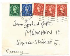 233 - 51 - Enveloppe Envoyée De Cambridge à München 1956 - Covers & Documents