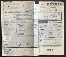 Champagne Pommery & Greno Récépissé Gare SNCF Salon 2 Décembre 1954 Epernay-Est (Reims) – LD7 - Covers & Documents