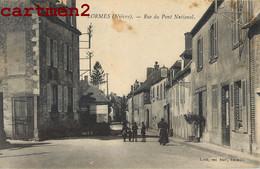 LORMES RUE DU PONT NATIONAL 58 NIEVRE - Lormes