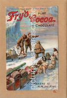 FRYS COCOA CAPTAIN SCOTT AT SOUTH POLE OLD ADVERTISING POSTCARD ORIGINAL - Pubblicitari