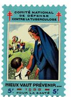 Grand Timbre Contre La Tuberculose 1935, 5F , TAILLE 10.5 X 15.5 - Antituberculeux
