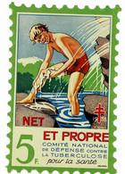Grand Timbre Contre La Tuberculose 1938, 5F , TAILLE 9.5 X 14.5 - Antituberculeux