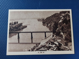 KOREA NORTH 1950s  Postcard - Reungra-do Island - Railway Bridge - Korea, North