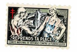 Grand Timbre CONTRE LA TUBERCULOSE 1957-58 , 200FR , TAILLE 8 X 12 - Antituberculeux