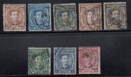 Spain - 1876 - 5c-4p - Yv. 163-171 - Used - Usados
