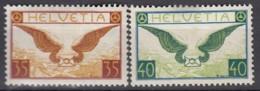 SCHWEIZ  233-234 Z, Postfrisch **, Flugpostmarken 1929, Geflügelter Brief - Ungebraucht