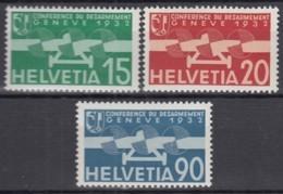 SCHWEIZ  256-258, Postfrisch **, Flugpostmarken 1932, Abrüstungskonferenz - Ungebraucht