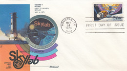 Sc#1529 Skylab Space Station 10c Stamp Issue,1974 First Day Cover - 1971-1980