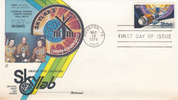 Sc#1529 Skylab Space Station 10c Stamp Issue, Conrad Kerwin And Weitz Astronauts,1974 First Day Cover - 1971-1980