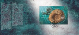 SCHWEIZ  Block 59, Gestempelt, In Dankeschön-Faltblatt Der Post CH, 2015, Ammonit - Blocks & Sheetlets & Panes
