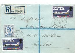 233 - 84 - Enveloppe Recommandée Envoyée De Exeter 1969 - Covers & Documents