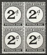Gold Coast 1951 Sc J5  Postage Due Block MNH** - Goldküste (...-1957)