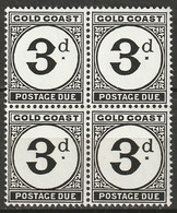 Gold Coast 1951 Sc J6  Postage Due Block MNH** - Goldküste (...-1957)