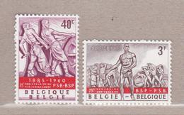 1960 Nr 1131-32** Zonder Scharnier,Belgische Socialistische Partij. - Unused Stamps