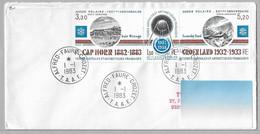 5 - PA 77A - Année Polaire 100 ème Anniversaire Du 1.1.1983 Alfred Faure CROZET - 1ère Date - FDC . - Briefe U. Dokumente