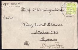 Danmark - 1954 - Fragment Lettre - Envoyé En Argentina - A1RR2 - Briefe U. Dokumente