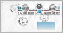 10- PA 77A - Année Polaire 100 ème Anniversaire Du 1.1.1983 MARTIN De VIVIES-StPAUL-AMS - 1ère Date - FDC . - Briefe U. Dokumente