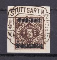 Wuerttemberg - 1919 - Dienstmarken - Michel Nr. 135 - Geprüft - Briefst. - 40 Euro - Wurtemberg