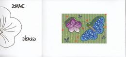SCHWEIZ Block 62, Gestempelt, In Dankeschön-Faltblatt Der Post CH, 2016, Laserschnitt: Blume, Schmetterling - Blocks & Sheetlets & Panes
