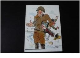 Politique 39/45.n° 42170 .fessée A Hitler. Illustrateur Asti.14x10.5 Cm. - Satirical