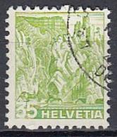 SCHWEIZ  304 Z, Gestempelt, Mit Abart: Links Schwacher Druck, Landschaften 1936 - Errors & Oddities