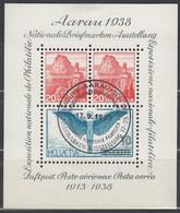 SCHWEIZ  Block 4, Gestempelt, AARAU 1938 - Blocks & Sheetlets & Panes