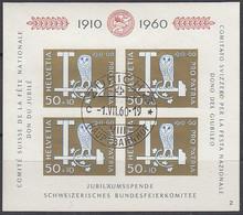 SCHWEIZ  Block 17, Gestempelt, 50 Jahre Pro Patria, 1960 - Blocks & Sheetlets & Panes