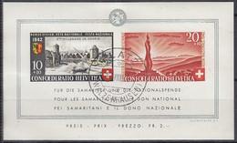 SCHWEIZ  Block 7, Gestempelt, Pro Patria, 2000 Jahre Genf, Wehrmännerdenkmal, 1942 - Blocks & Sheetlets & Panes
