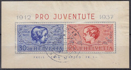 SCHWEIZ  Block 3, Gestempelt, 25 Jahre Pro Juventute, 1937 - Blocks & Sheetlets & Panes