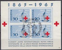 SCHWEIZ  Block 19, Gestempelt, 100 Jahre Rotes Kreuz, 1963 - Blocks & Sheetlets & Panes