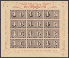 SCHWEIZ  Block 9, Postfrisch **, 100 Jahre Briefmarken, 1943 - Blocks & Sheetlets & Panes