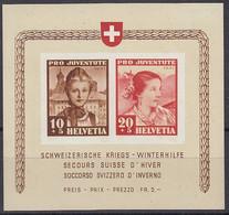 SCHWEIZ  Block 6, Postfrisch **, Pro Juventute: Frauentrachten, 1941 - Blocks & Sheetlets & Panes