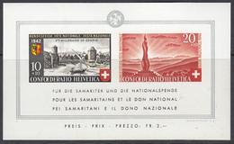SCHWEIZ  Block 7, Postfrisch **, Pro Patria: 2000 Jahre Genf, Wehrmännerdenkmal, 1942 - Blocks & Sheetlets & Panes