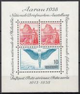 SCHWEIZ  Block 4, Postfrisch **, AARAU, 1938 - Blocks & Sheetlets & Panes