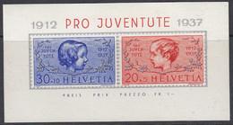 SCHWEIZ  Block 3, Postfrisch **, 25 Jahre Pro Juventute, 1937 - Blocks & Sheetlets & Panes
