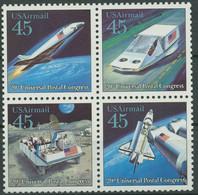 USA 1989 Weltpostverein UPU Postbeförderung Der Zukunft 2068/71 ZD Postfrisch - Nuevos