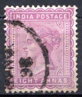 INDE ANGLAISE - (Empire) - 1882-88 - N° 41 - 8 A. Lilas-gris - (Effigie De La Reine Victoria) - 1858-79 Kronenkolonie