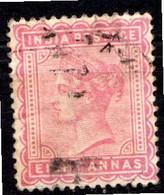 INDE ANGLAISE - (Empire) - 1882-88 - N° 41a - 8 A. Rose-lilas - (Effigie De La Reine Victoria) - 1858-79 Kronenkolonie