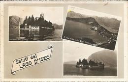 Saluti Dal LAGO D'ISEO - MULTIVEDUTE - PRIMISSIME LUCIDE  - FORMATO PICCOLO - VIAGGIATA 1955 - (rif. G35) - Brescia