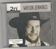 """CD Music Country & Western Waylon Jennings (the Best Of) The Millennium Collection """"Sealed"""" New - Country & Folk"""