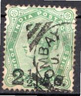INDE ANGLAISE - (Empire) - 1891-98 - N° 45 - 2 1/2 As S. 4 A. 6 P. Vert-jaune - (Effigie De La Reine Victoria) - 1858-79 Kronenkolonie
