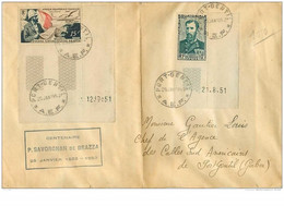TIMBRES.n°2827.A E F.CENTENAIRE P SAVORGNAN DE BRAZZA.P A 55+228 BORD DE FEUILLE.1952 - Lettres & Documents