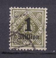 Wuerttemberg - 1923 - Dienstmarken - Michel Nr. 179 - Geprüft - Gestempelt - 32 Euro - Wurtemberg