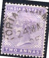 INDE ANGLAISE - (Empire) - 1900 - N° 55 - 2 A. Violet - (Effigie De La Reine Victoria) - Unclassified