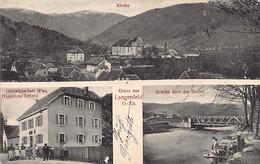 Langenfeld Kirchberg - Vue D'ensemble- Pont Sur La Doller - Auberge Hippolyte Erhard- Ed. J. Kuntz - Otros Municipios