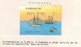 224Y * NICARAGUA BLOCK * 1 FEINE WERTE * 150 JAHRE BRIEFMARKEN * POSTFRISCH **!! - Nicaragua